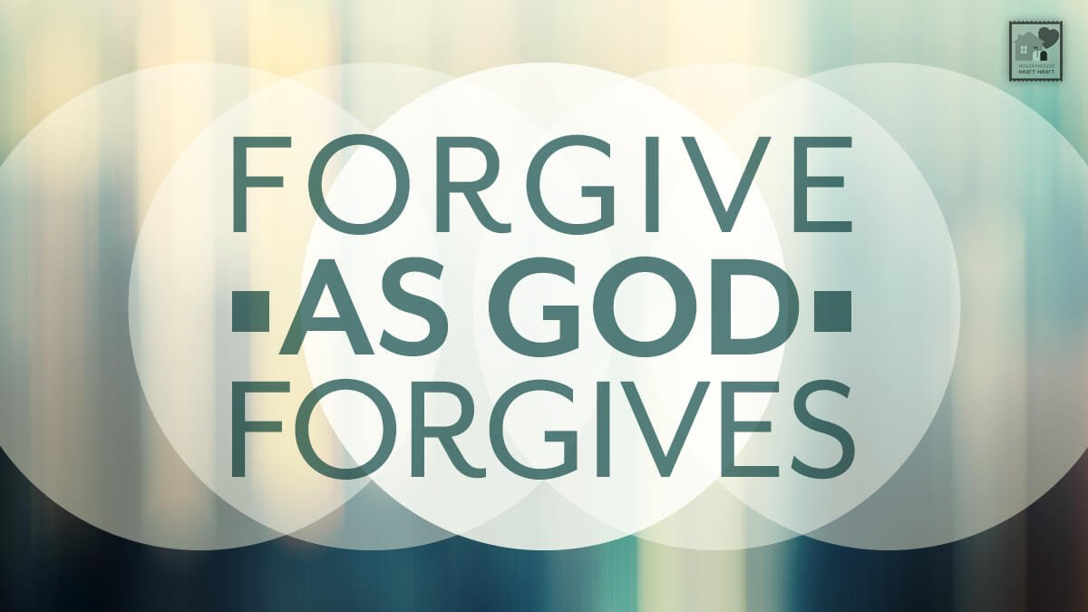 Forgiveness, But Why?